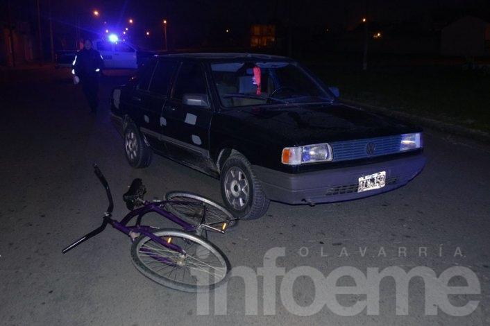 Ciclista sufrió heridas en un accidente