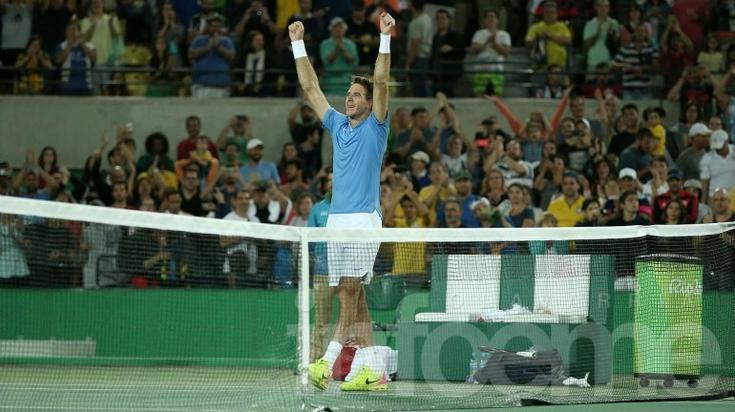 Del Potro dio la sorpresa y eliminó a Djokovic