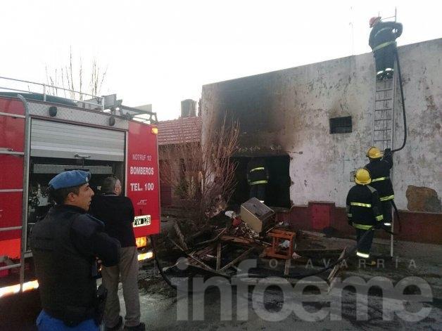 Insólito: una casa se incendió por segunda vez en el día