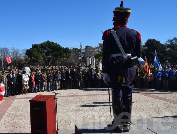 Se realizó el acto aniversario por el fallecimiento de San Martín
