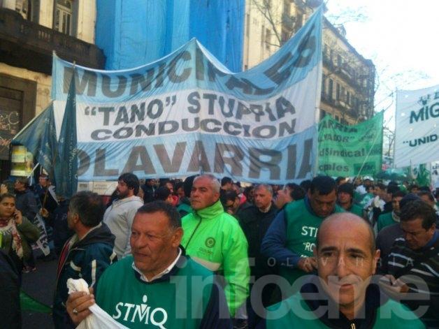 Municipales marcharon en Buenos Aires