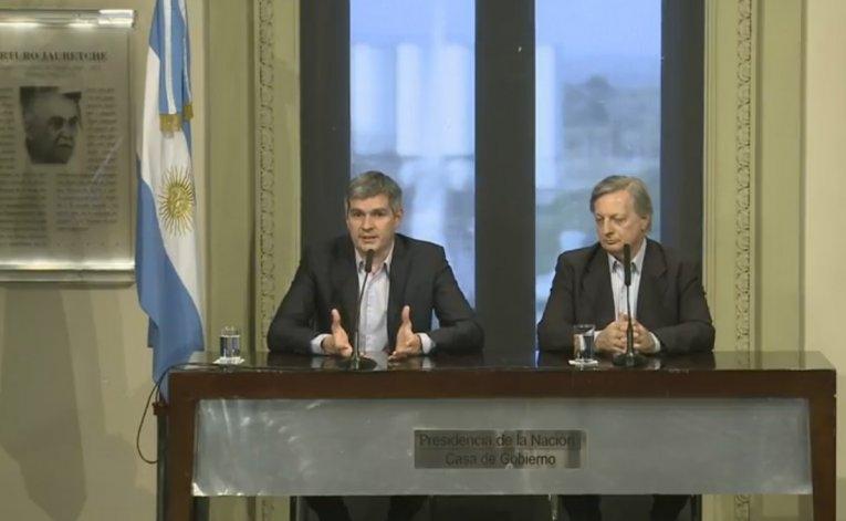 En Vivo: Conferencia de prensa de Marcos Peña y Aranguren