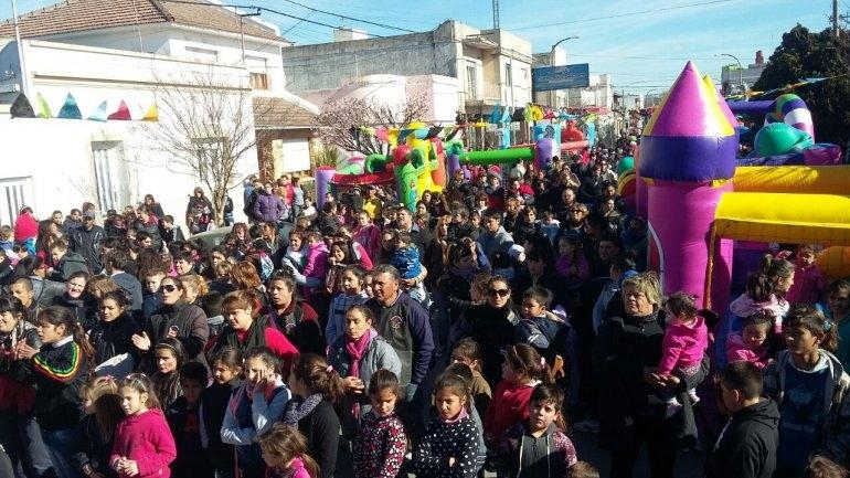 Municipales festejaron el Día del Niño
