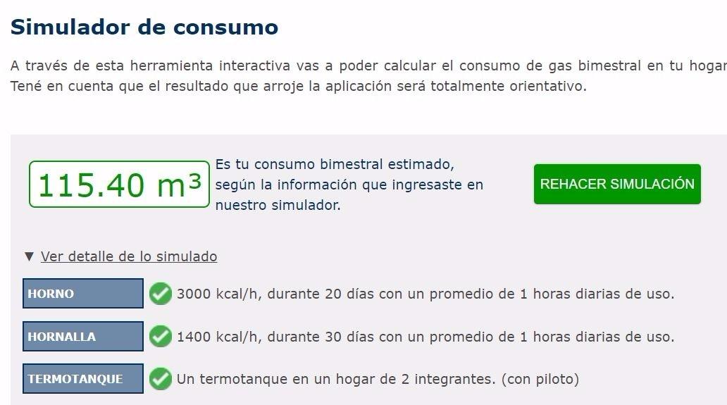Camuzzi presentó un simulador para que los usuarios calculen su consumo