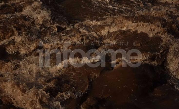 Las elevadas aguas del arroyo, curiosidad del sábado en Olavarría