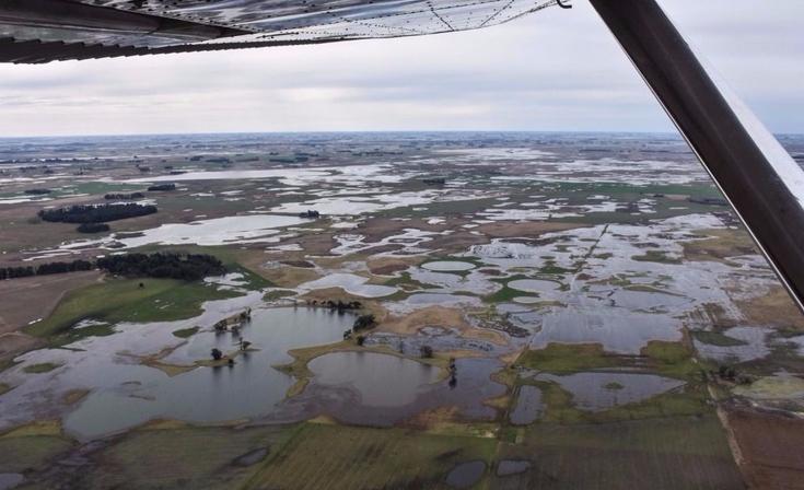 La región bajo agua: desoladoras imágenes en Bolívar, Alvear y Daireaux