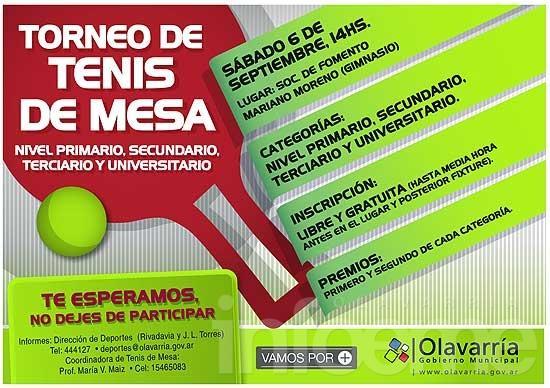 Habrá un torneo escolar en Mariano Moreno