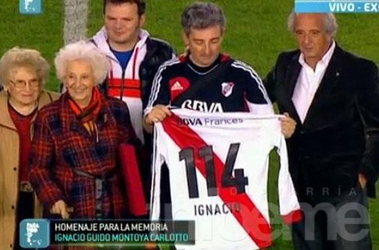 Ignacio Guido fue homenajeado en el Monumental