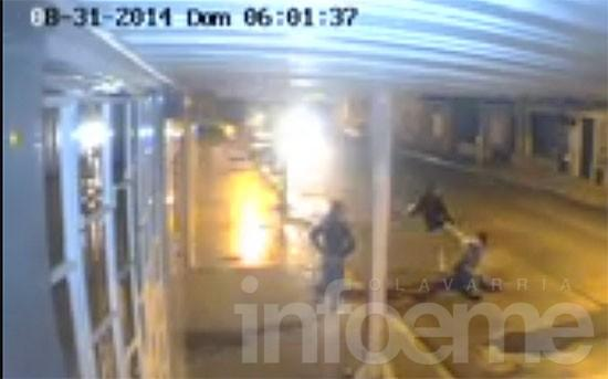 Brutal robo y golpiza quedó filmado por las cámaras