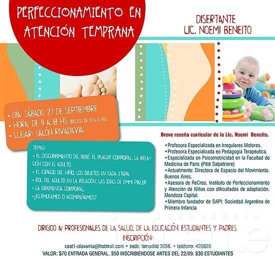 """Jornadas de perfeccionamiento en Atención Temprana: """"El hacer y el jugar en el niño de 0 a 3 años"""""""