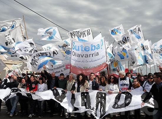 Militantes marcharon antes del juicio por Monte Peloni