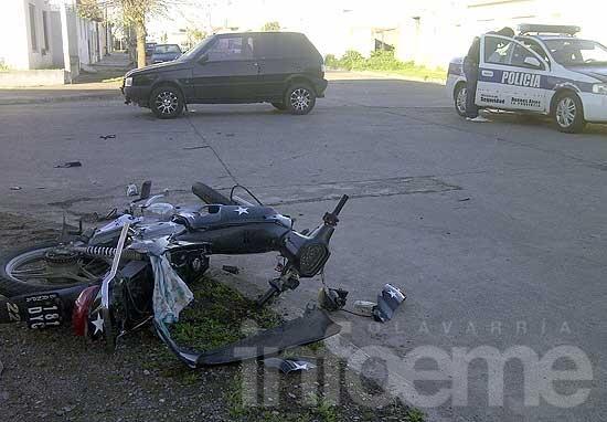 Motociclistas heridos en sendos accidentes: uno está grave