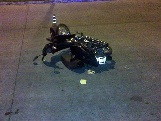 Murió el hombre que el martes sufrió una caída en moto