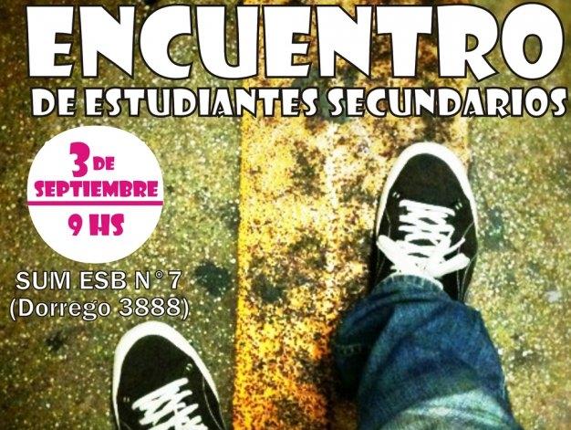 Se llevará a cabo el Primer Encuentro de Estudiantes Secundarios