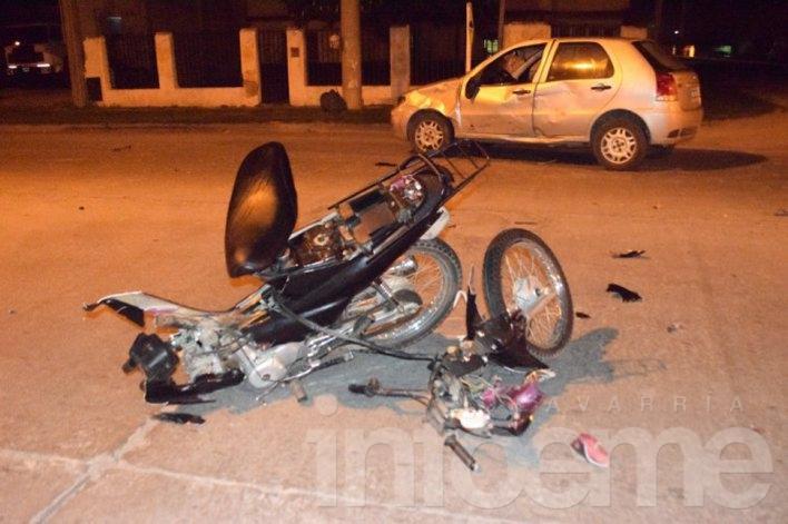 El motociclista accidentado tenía prisión domiciliaria