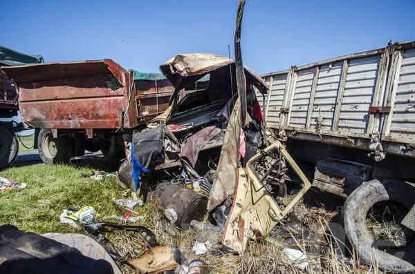 Chocaron dos camiones en ruta 51: un olavarriense herido