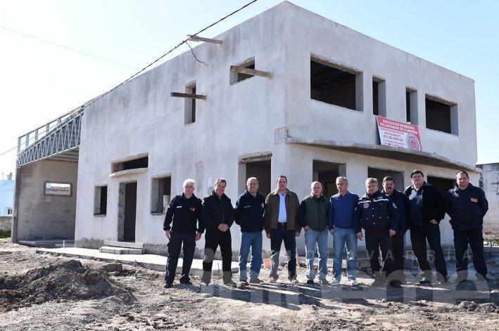 Avanza la construcción del destacamento de Bomberos en Hinojo