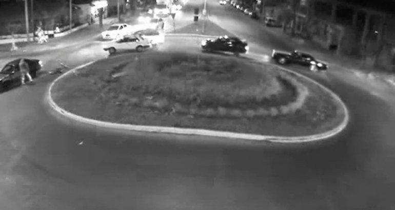Un ciclista fue embestido en la rotonda de Sarmiento y Pringles