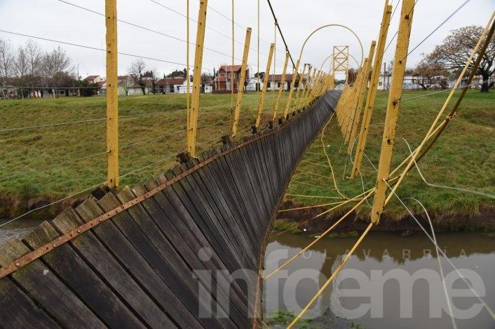 El arreglo del puente colgante costará alrededor de 370.000 pesos
