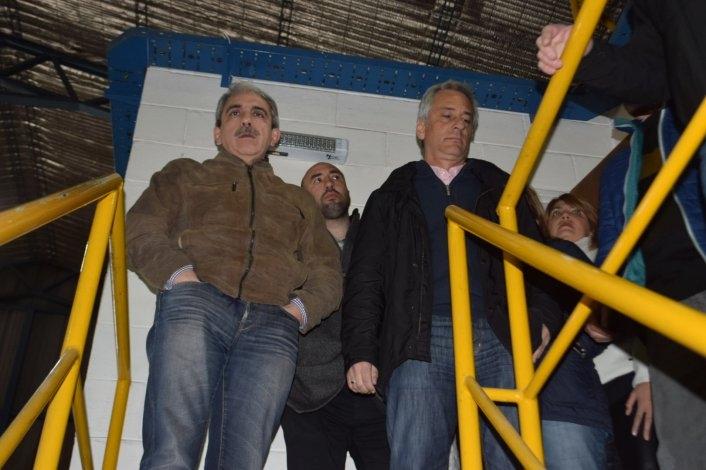 Aníbal Fernández recorrió el Parque Industrial de Olavarría
