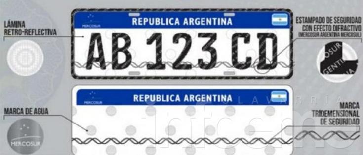 En enero comienza a regir la nueva patente del Mercosur