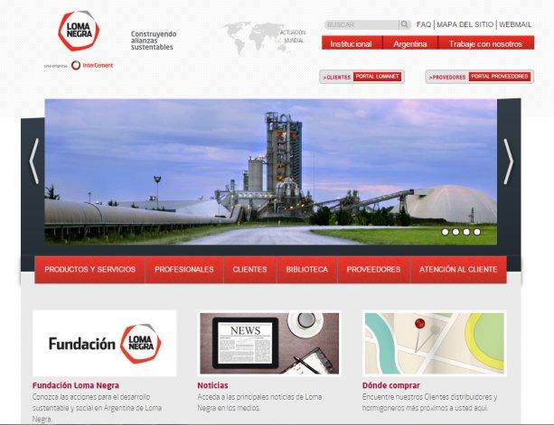Loma Negra lanzó una nueva web