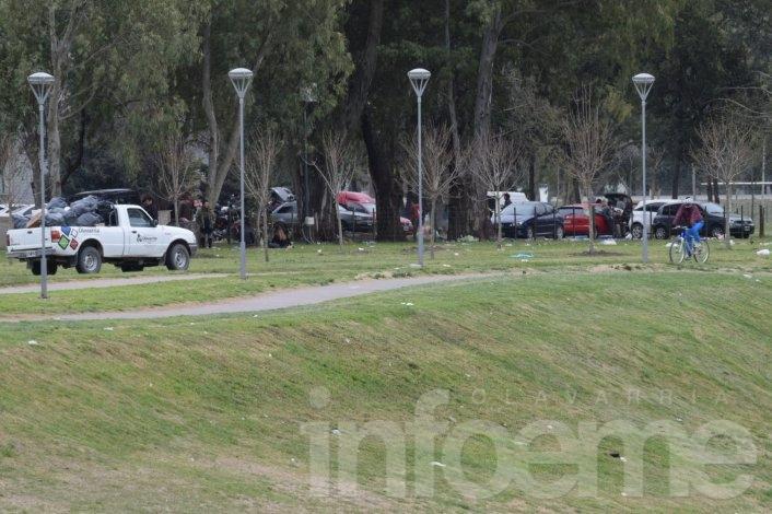 Limpieza de calles tras show de La Renga