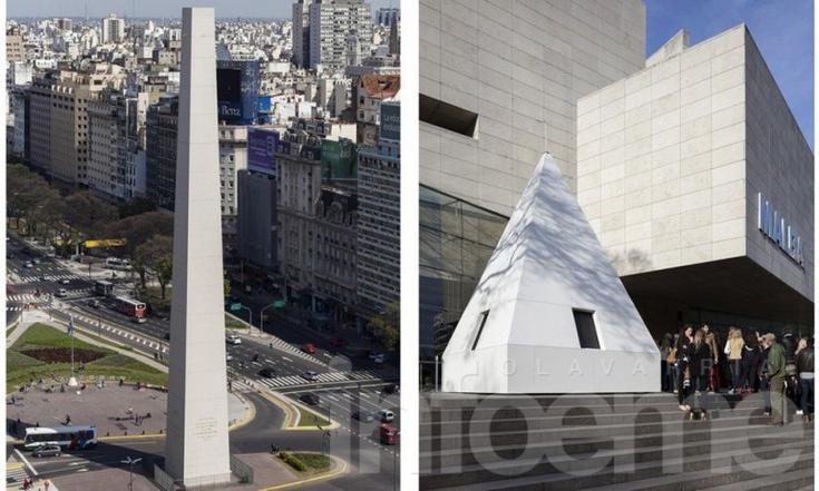 El Obelisco se quedó sin punta