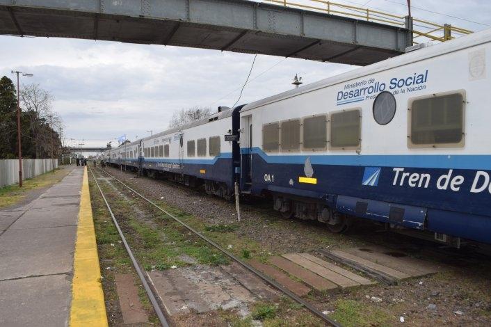 Arribó a Olavarría el tren de Desarrollo Social y Sanitario