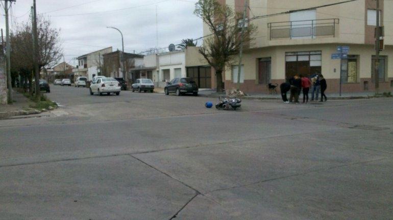 Otro accidente con un motociclista herido
