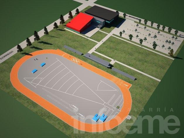 Proyectan la construcción de un Polideportivo Municipal en barrio Coronel Dorrego