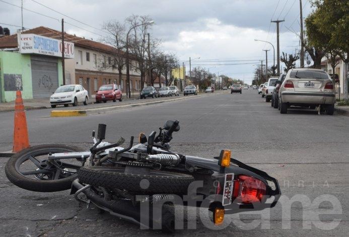 Choque en avenida Sarmiento: un hombre hospitalizado
