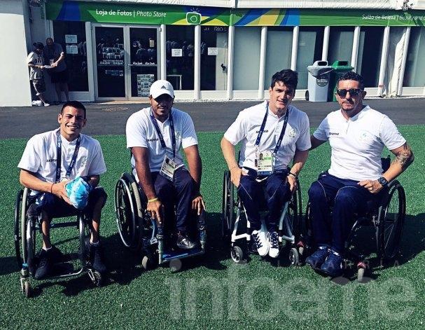 Lucas Díaz Aspiroz en la Villa Paralímpica