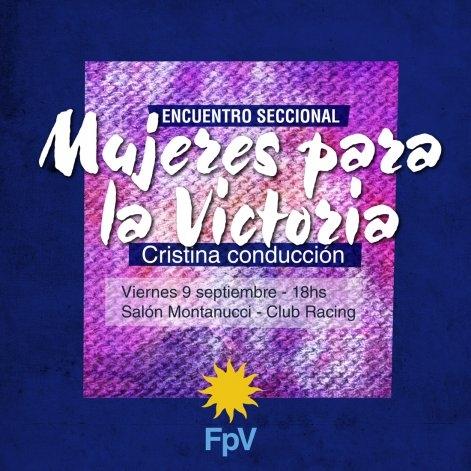 Encuentro de mujeres del FPV en Olavarría