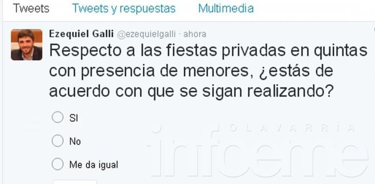 Galli volvió a las encuestas por Twitter