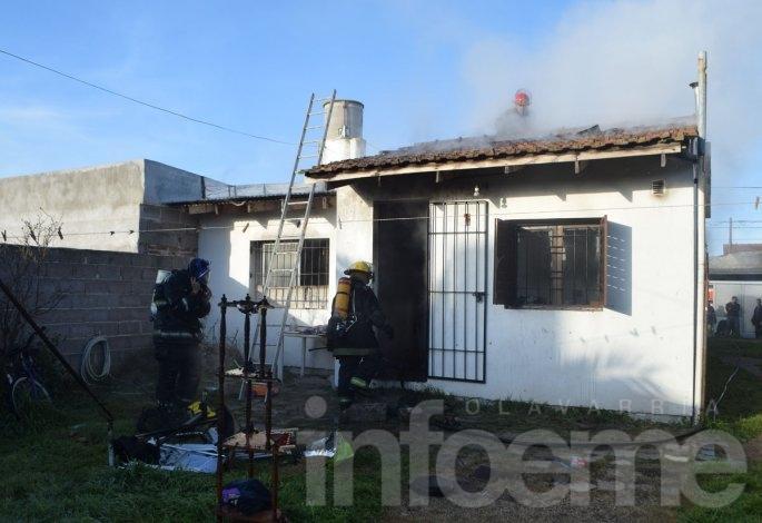 Incendio en una vivienda de Villa Floresta