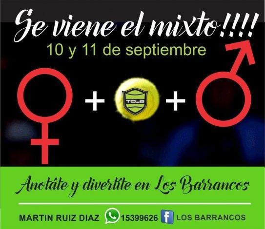 Torneo de dobles mixto en Los Barrancos