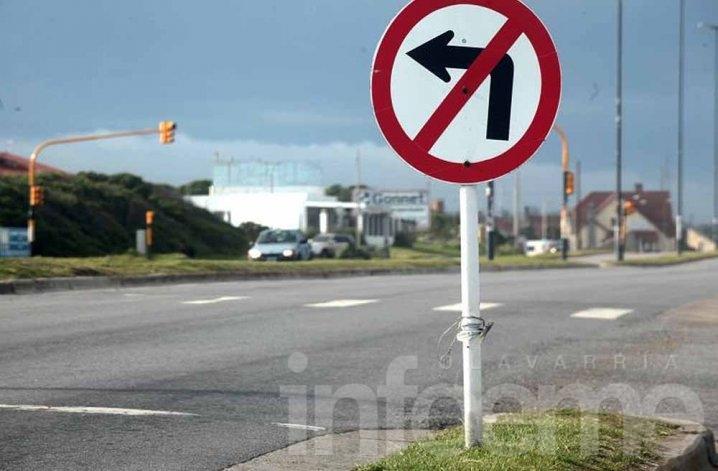 Polémica por prohibición del giro a la izquierda en Avenida Pringles