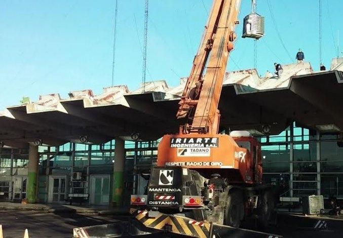Avanzan las obras en la Terminal de Ómnibus
