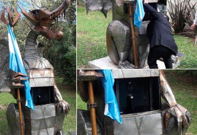 Ex funcionario de Scioli tenía una caja fuerte oculta en un dragón