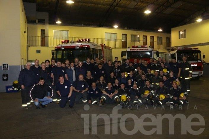El trabajo de bomberos durante el temporal, orgullo de toda la ciudad