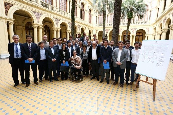 Galli en la presentación de la Red Nacional de Municipios Productivos