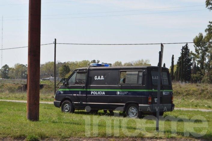 El GAD custodió la avenida Emiliozzi tras los incidentes