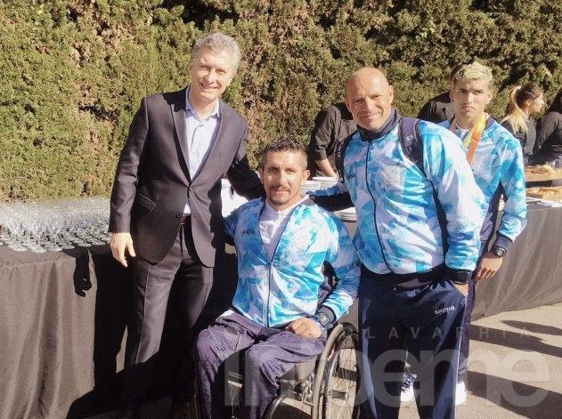 Lucas Díaz Aspiroz con Macri en Olivos