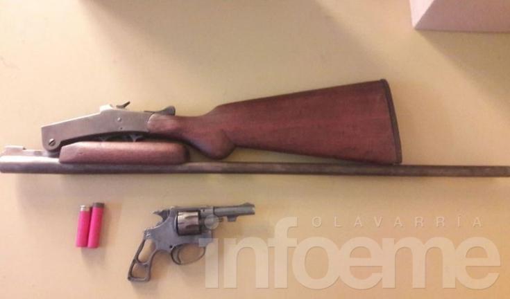 Secuestraron un revólver y una escopeta en un nuevo allanamiento