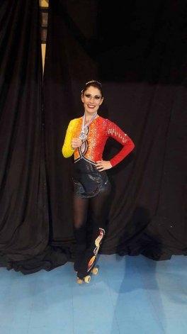La patinadora Mariana Espil participará del mundial en Italia