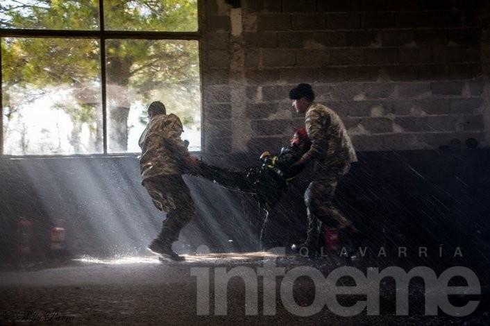 Espectaculares imágenes de simulacro en el Ejército