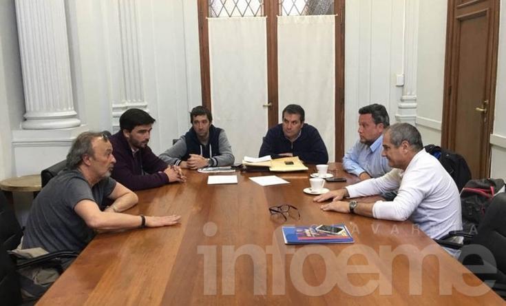 Galli se reunió con funcionarios de Deportes de Nación