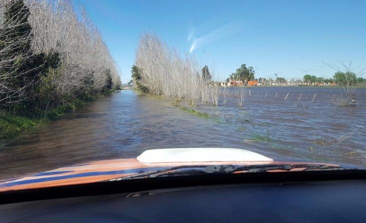 Chacra quedó completamente inundada en Olavarría
