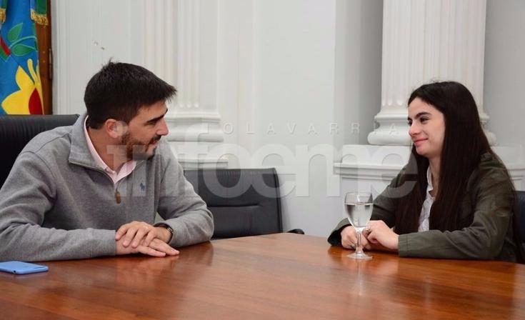 El Intendente Galli se reunió con Rebeca Allen